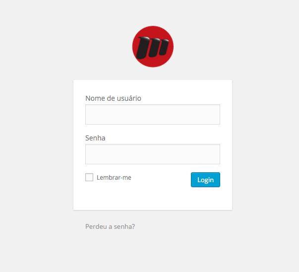 Logotipo da página de login do wordpress