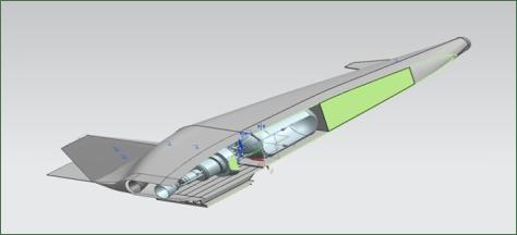Рис. 5. 3D модель демонстратора МАКК типа МГ-19