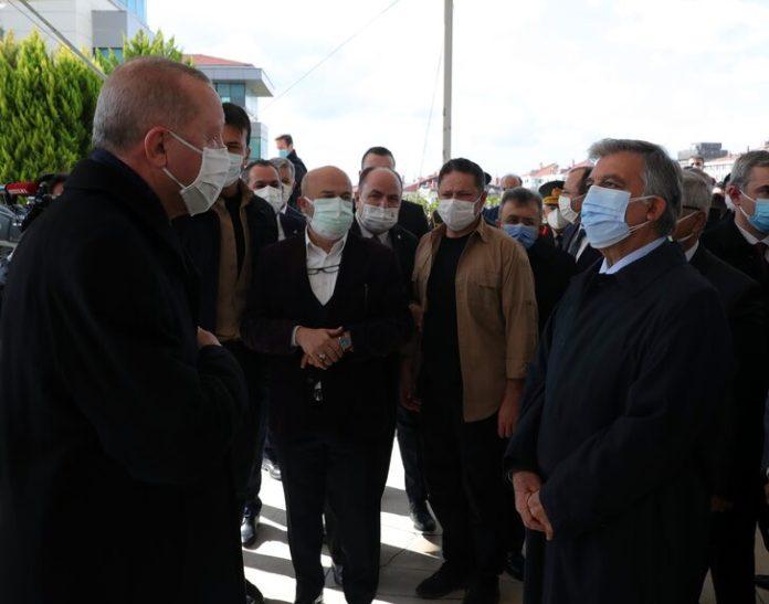 Mesut Yılmaz'ın cenaze töreninde Cumhurbaşkanı Erdoğan İle Abdullah Gül yan yana geldi