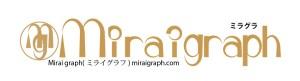 Mirai graph ミラグラ ミライグラフのロゴ。