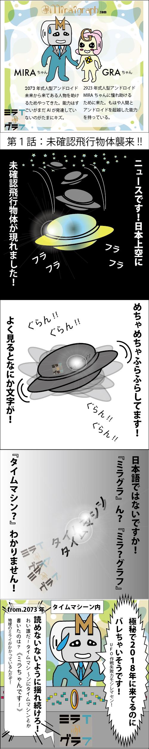 ミラちゃんグラちゃん世界を救う!?第1話 未確認飛行物体襲来!?