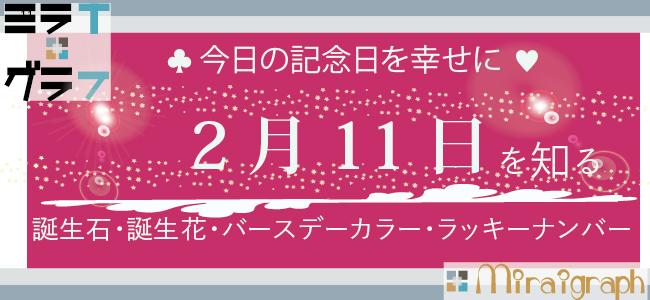 2月11日の誕生石誕生花バースデーカラーラッキーナンバー