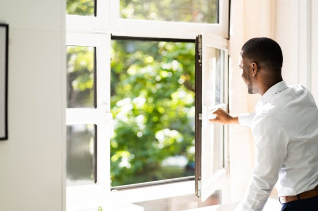 Take actions such as opening windows should be a part of protocols to improve the air in the work environment.