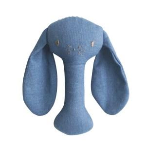 AR Stick Rattle - Bobby Bunny Chambray Linen