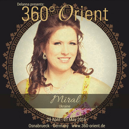 Tänzerin Marina Nickel vom Tanzstudio Miral in Fürstenwalde tritt bei 360° Orient auf