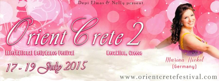 Bauchtänzerin Marina Nickel vom Tanzstudio Miral in Fürstenwalde tritt auf dem Festival Orient Crete auf