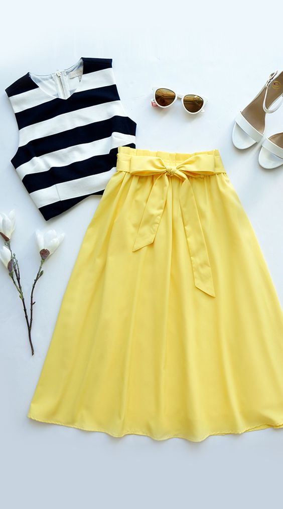 Inspirações de looks com saias modernas e vintage