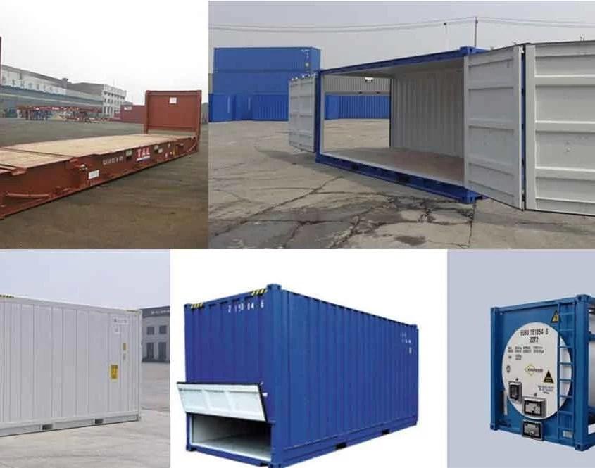 Variações do container Dry