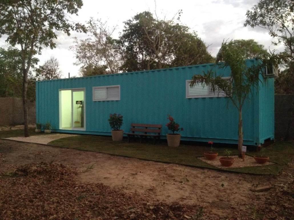 Casa Container instalada na chácara