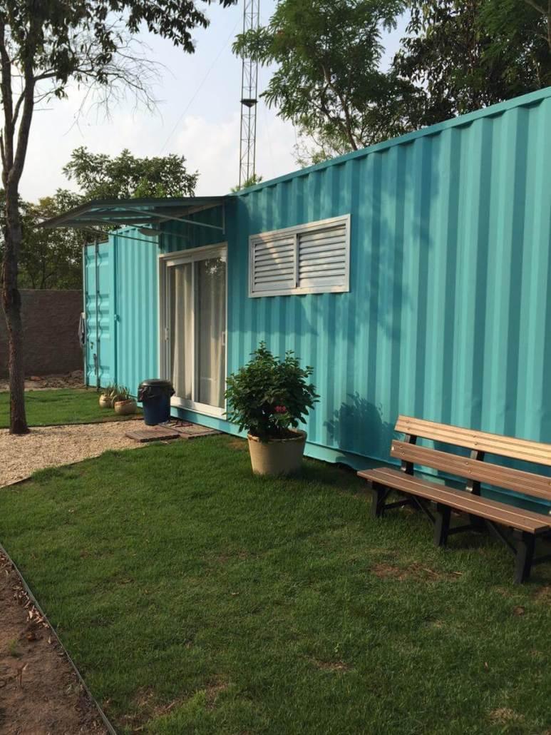 Outra foto da casa container, foto tirada pelo proprietário