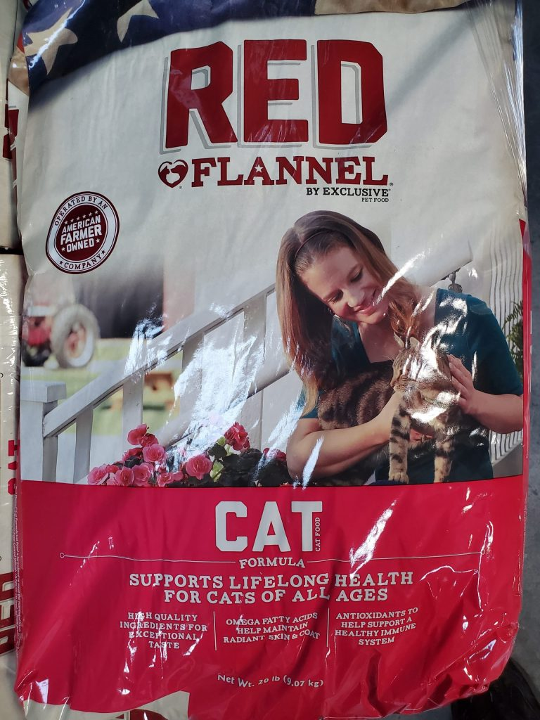Purina Red Flannel Cat Food twenty pound bag for sale