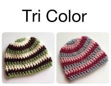 Tricolor Crochet Hats