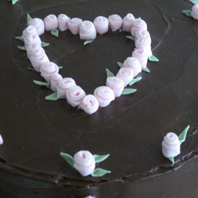 Rosebud Birthday Cake