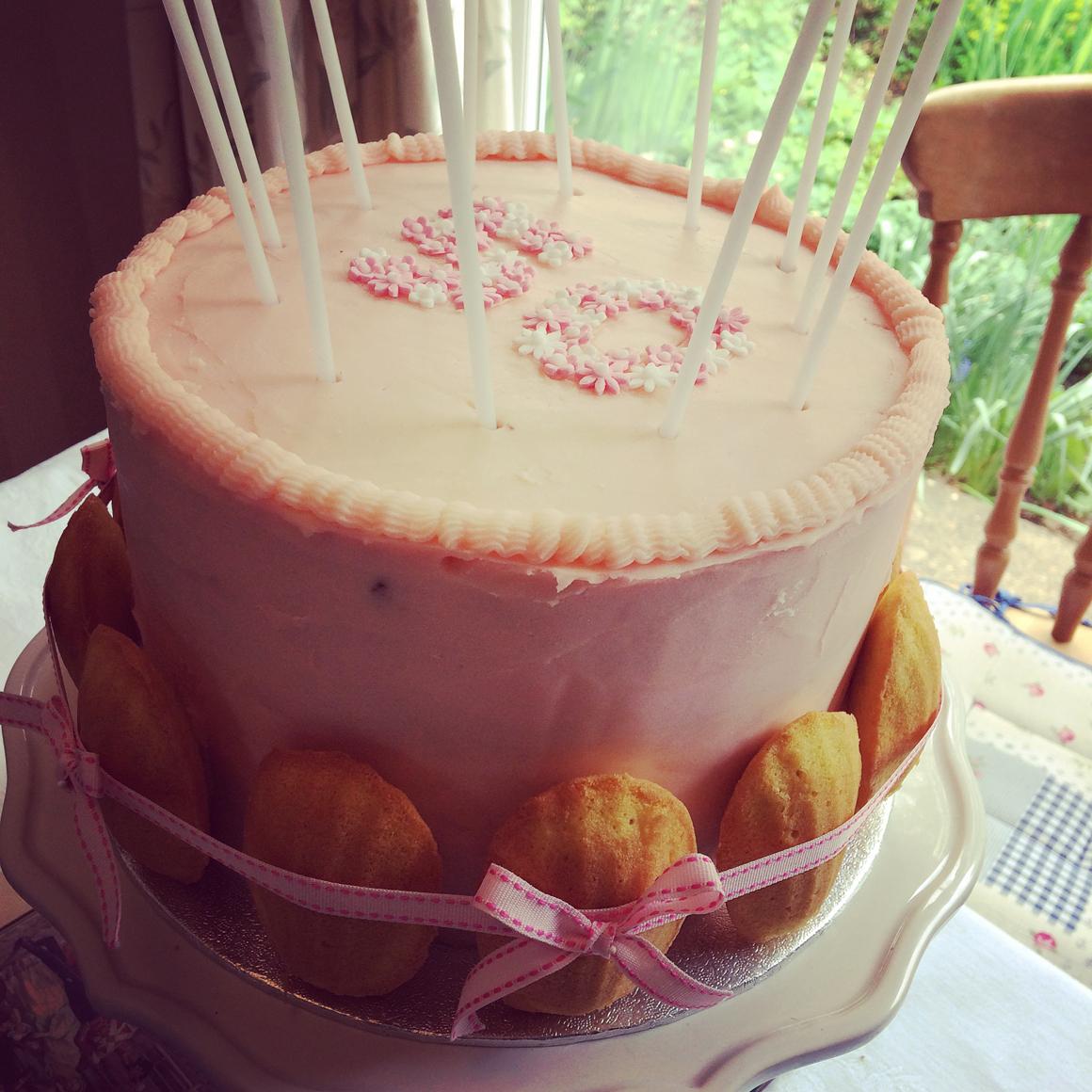 Pink 50th Cake 4