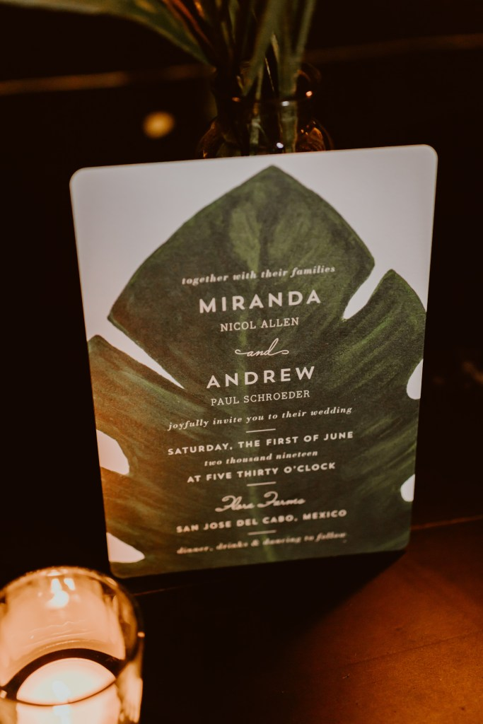 Our Tropical Wedding Invitation Suite from Minted - Miranda Schroeder