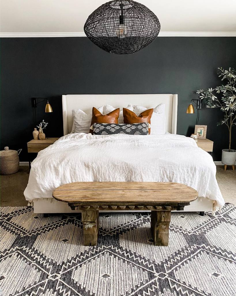 Orc Week One Dark Moody Master Bedroom Inspiration Miranda Schroeder