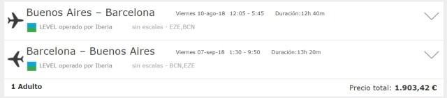 Buenos Aires Barcelona Ida y Vuelta Flexible