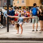 Gymnastics Dancing Photography handstand on the Camden street London family children Photography