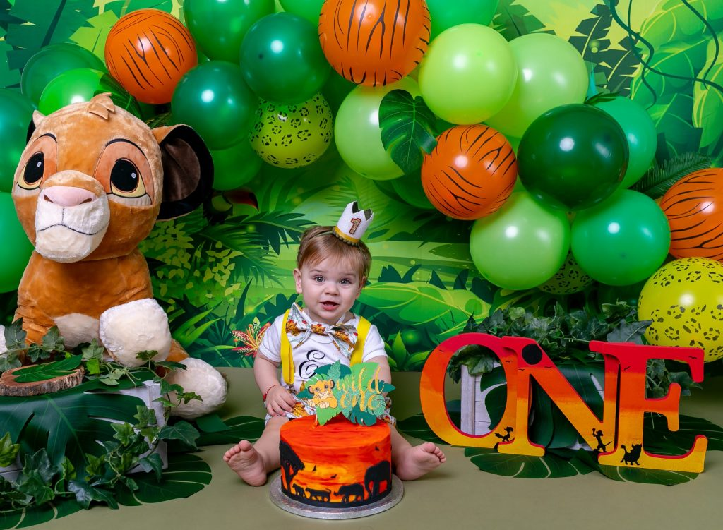 Cake Smash Photography, Boy Son Baby having Birthday Celebration Cake Smash 1st Birthday in London Enfield Barnet