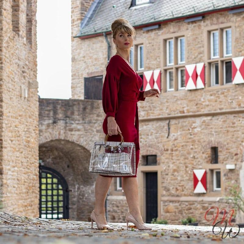 Bordeaux Kleid Femme Luxe