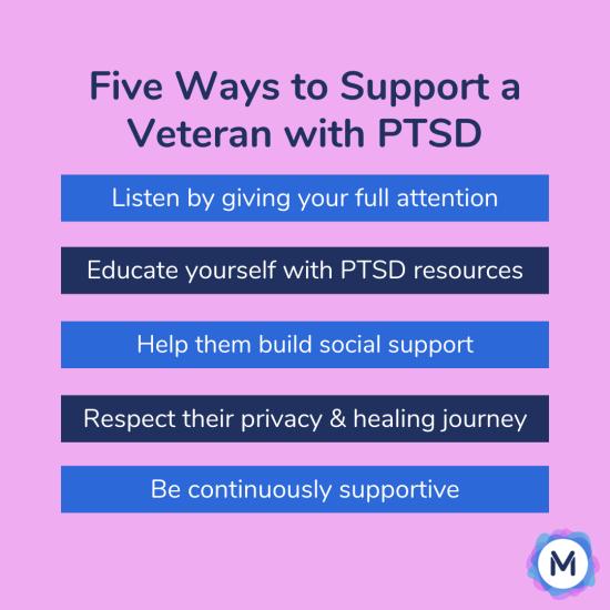 how to support veteran PTSD - Mira