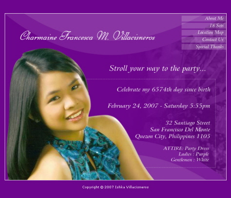 Formal invitation letter for debut cogimbo sample invitation for debut image gallery hcpr stopboris Choice Image