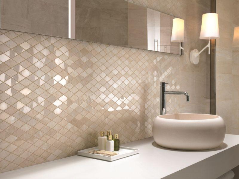 дизайн ванной комнаты с мозаикой и плиткой фото 3