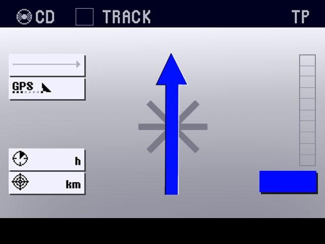 Autostadt — GPS display move forward arrow
