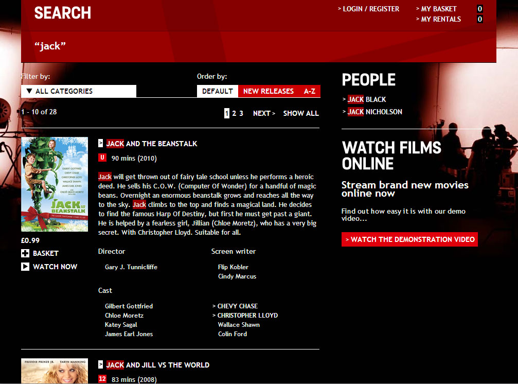 Film4oD - Search page