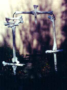 Gateway * PVC pipe, plaster, metal lathe, mud * 1990
