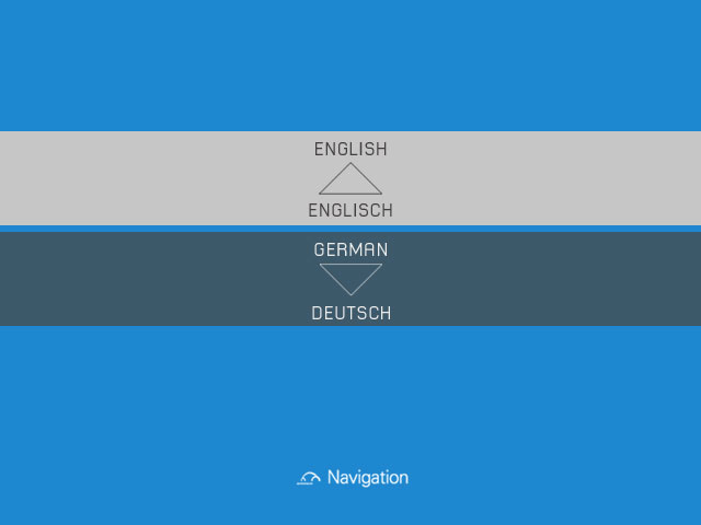 Autostadt — Select your language — GPS voice and text commands are localised