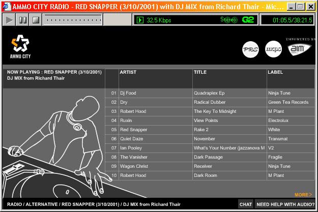 Ammocity — Radio track listing for DJ set