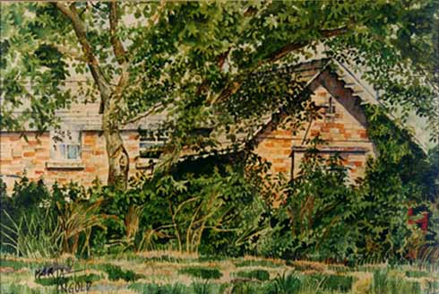 Little Gidding School (commision work) * Watercolor on paper * 1989