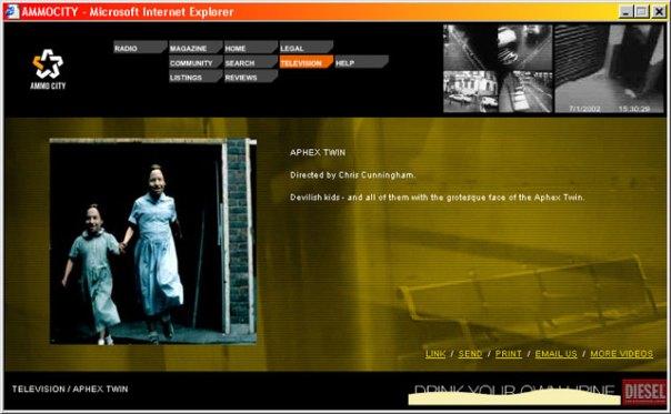 Ammocity - Television description for Aphex Twin video