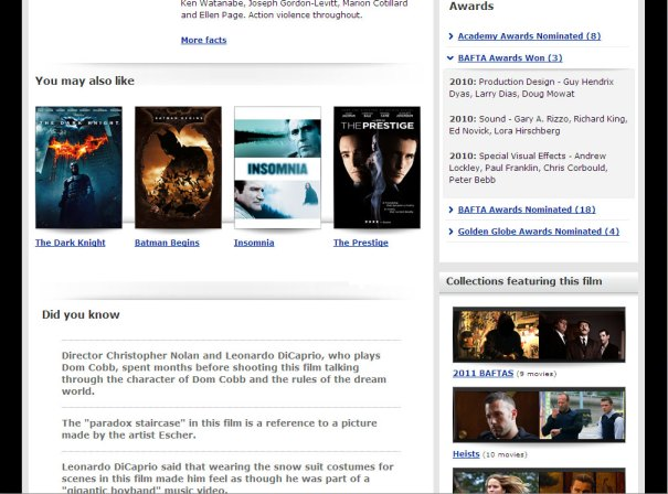 Virgin Media Online Movies - Film page - middle