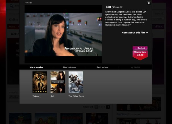 Virgin Media Online Movies - Trailer player