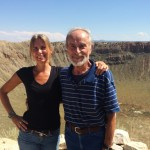 Me and Dad at Meteor Crater