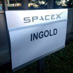 SpaceX VIP Parking Sign for Ingold