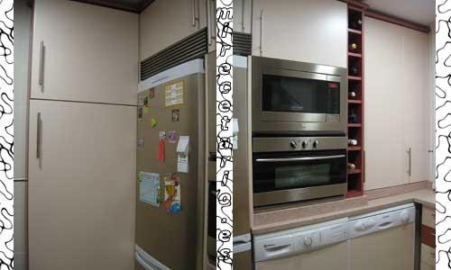 Frigorifico y columna horno