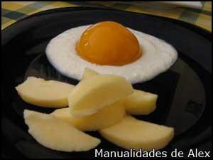 Huevos fritos dulces