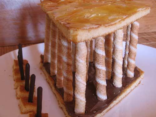 Pastel Pabellón de España