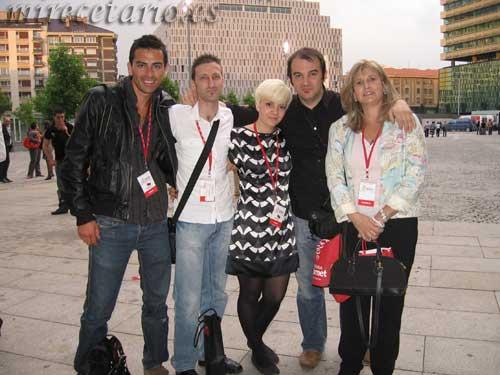 Giancarlo, yo, Cristina, Marcelo y Alejandra