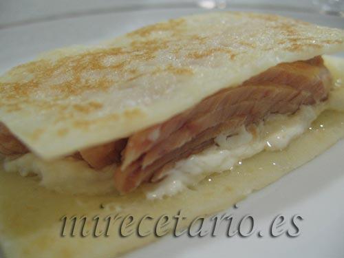 Crepe sin gluten con bonito Serrats