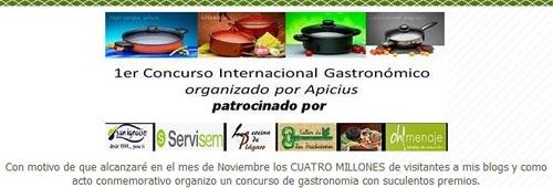 Anuncio Concurso Gastronómico Apicius 2010
