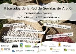 Cartel III Jornadas de la Red de Semillas de Aragón