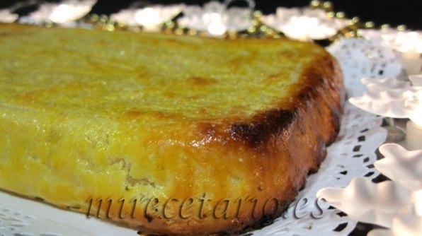 Detalle del tostado del turrón de yema.