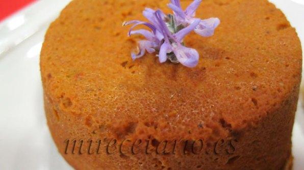 Detalle del flan de tomates secos de Caspe.