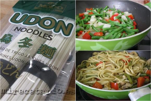 Elaboración paso a paso de los noodles