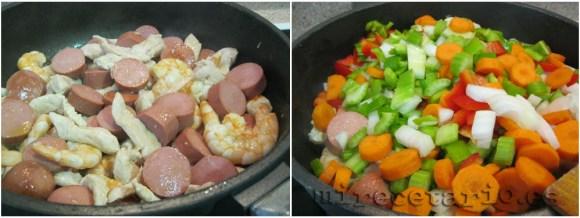 Las carnes y las verduras