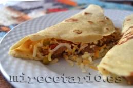 Tortillas mexicanas, tacos de ternera
